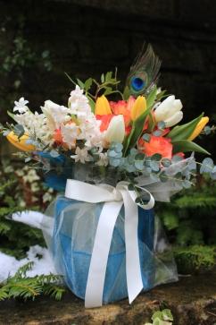 Gift wrapped vase