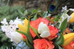 Gift wrapped vase detail