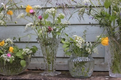 Wide selection of pretty vases available for hire