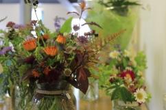 Jam jar posies, afternoon tea flowers, jam jar posy gifts